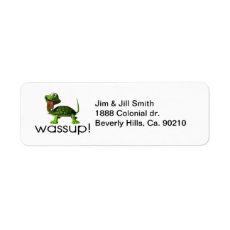 Etiqueta Tortuga de Wassup
