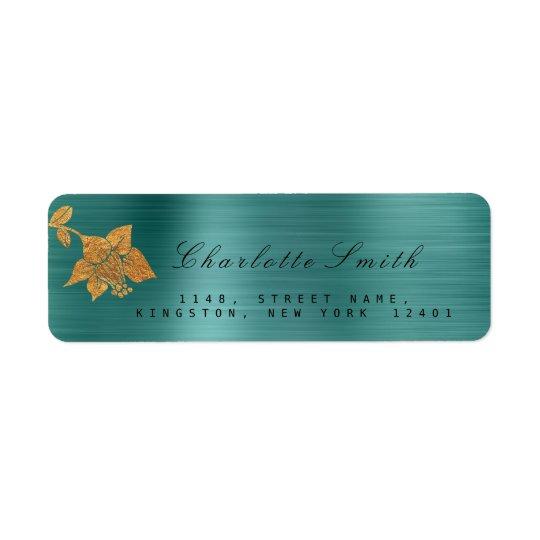 Etiqueta Trullo metálico floral RSVP tropical de la hoja de
