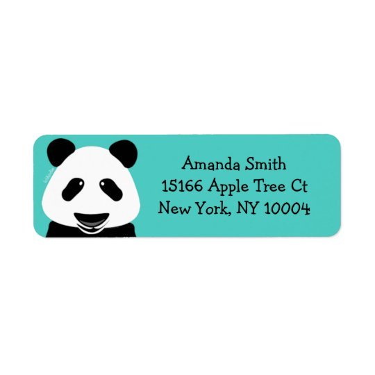 Etiqueta Trullo moderno del oso de panda