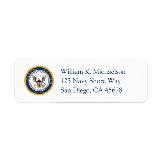 Etiqueta U.S. Emblema de la marina de guerra de la marina
