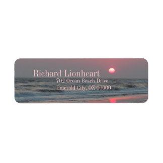 Etiqueta Una puesta del sol perfecta - isla del roble, NC