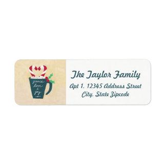 Etiqueta Una taza de paz, de amor y de alegría