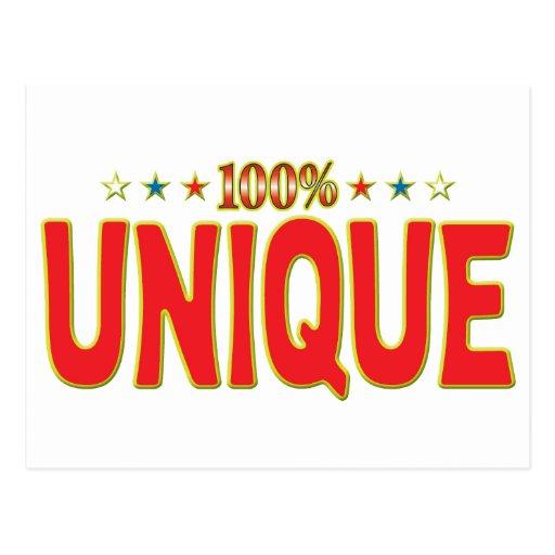 Etiqueta única de la estrella postales