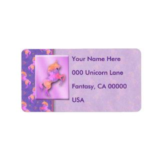 Etiqueta Unicornios rosados