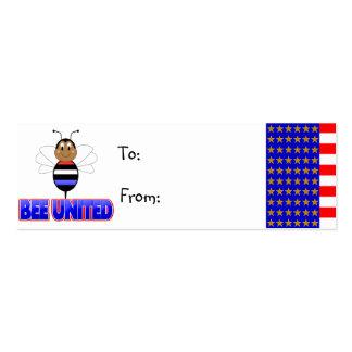 Etiqueta unida abeja del regalo plantilla de tarjeta de negocio