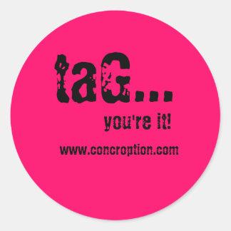 ¡etiqueta…, usted es él! , www.concroption.com
