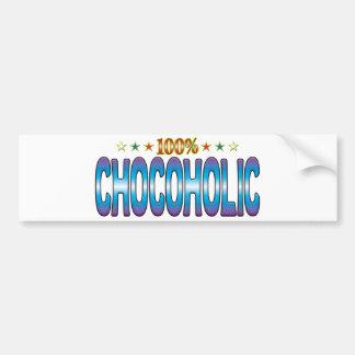 Etiqueta v2 de la estrella de Chocoholic Pegatina De Parachoque