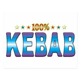 Etiqueta v2 de la estrella de Kebab Postal