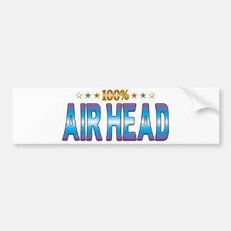 Etiqueta v2 de la estrella de la cabeza del aire etiqueta de parachoque