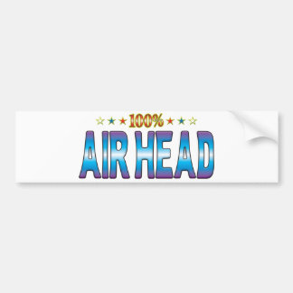Etiqueta v2 de la estrella de la cabeza del aire pegatina para coche