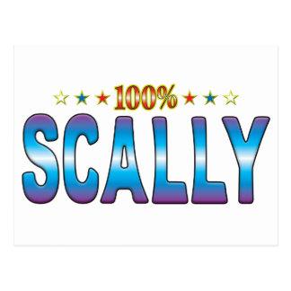 Etiqueta v2 de la estrella de Scally Tarjetas Postales