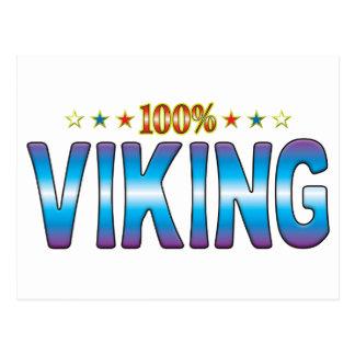 Etiqueta v2 de la estrella de Viking Postal