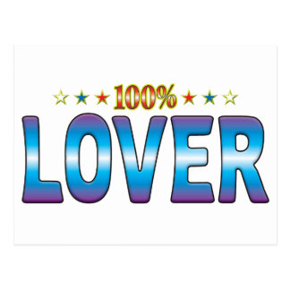 Etiqueta v2 de la estrella del amante postales