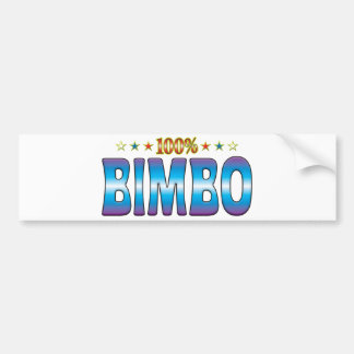 Etiqueta v2 de la estrella del Bimbo Etiqueta De Parachoque