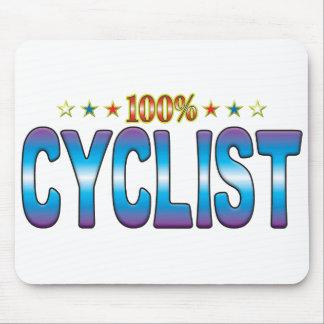 Etiqueta v2 de la estrella del ciclista tapete de raton