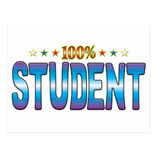 Etiqueta v2 de la estrella del estudiante postal