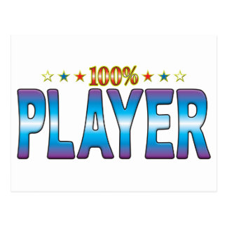 Etiqueta v2 de la estrella del jugador tarjetas postales