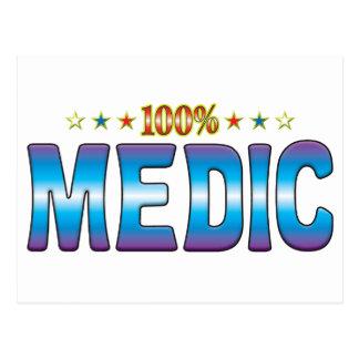 Etiqueta v2 de la estrella del médico postal