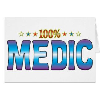 Etiqueta v2 de la estrella del médico tarjeta de felicitación
