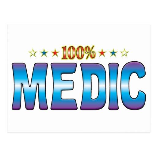 Etiqueta v2 de la estrella del médico postales