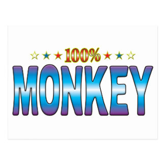 Etiqueta v2 de la estrella del mono tarjetas postales
