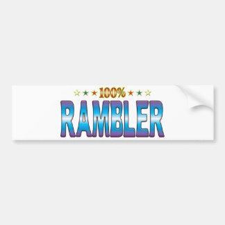 Etiqueta v2 de la estrella del Rambler Pegatina De Parachoque