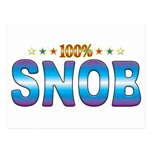 Etiqueta v2 de la estrella del snob tarjetas postales