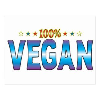 Etiqueta v2 de la estrella del vegano postales