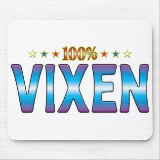 Etiqueta v2 de la estrella del Vixen Tapetes De Raton