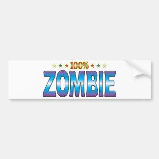 Etiqueta v2 de la estrella del zombi etiqueta de parachoque