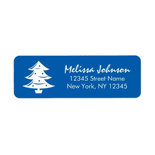 Etiqueta Vacaciones de invierno azules elegantes del