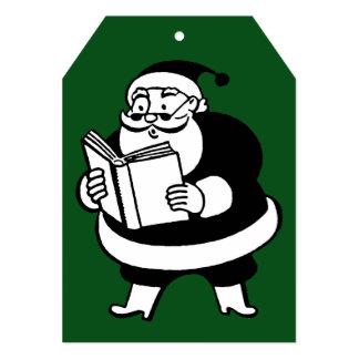 Etiqueta verde de lectura negra y blanca del invitación 12,7 x 17,8 cm