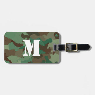 Etiqueta verde del equipaje de Camo con el