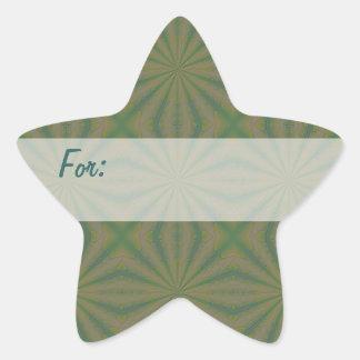 Etiqueta verde del regalo de la cosa