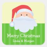 Etiqueta verde del regalo de las Felices Navidad