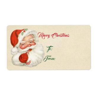 Etiqueta Vintage Santa