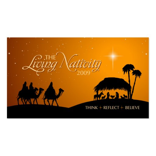 Etiqueta viva del regalo del navidad de la nativid tarjeta personal