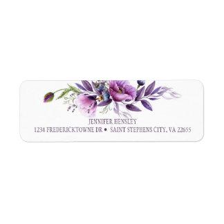 Etiqueta Vuelta púrpura violeta el Address| de los