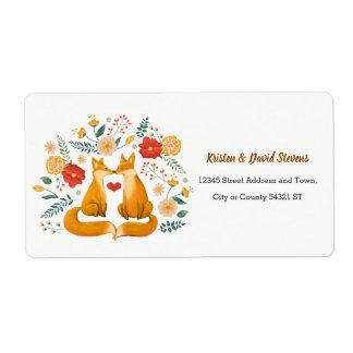 Etiqueta Zorros románticos y boda floral rústico del
