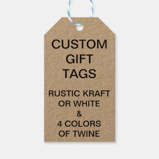 Etiquetas adaptables de encargo del regalo de