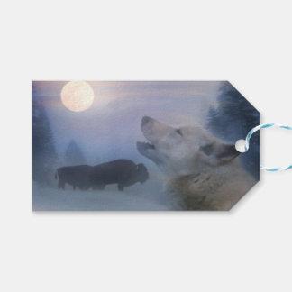 Etiquetas al sudoeste del regalo del lobo y del