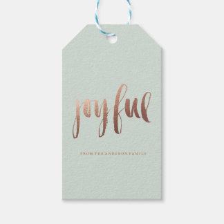 Etiquetas ALEGRES del regalo del navidad del día Etiquetas Para Regalos