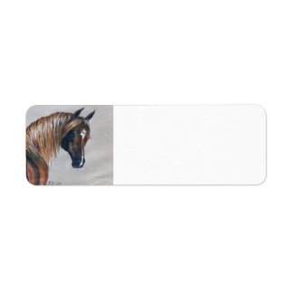 Etiquetas árabes del remite del caballo de la etiqueta de remitente