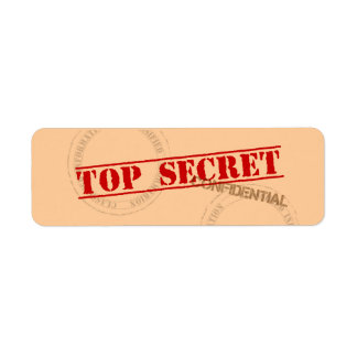 Etiquetas autoadhesivas secretísimas de la diversi etiqueta de remitente