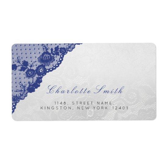 Etiquetas azules de plata clásicas del remite de