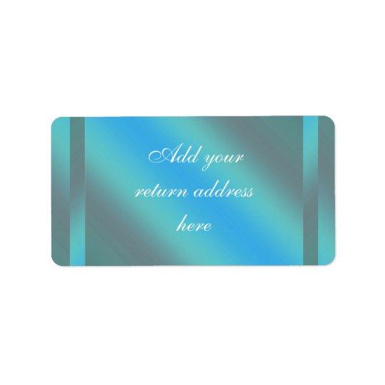 Etiquetas azules verde azuladas del remite etiquetas de dirección