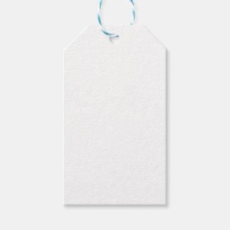 Etiquetas blancas del regalo
