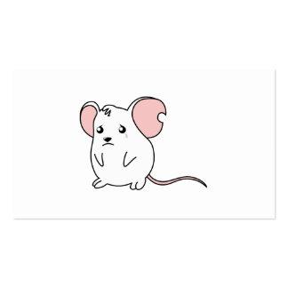 Etiquetas blancas gritadoras tristes del sello de tarjetas de visita