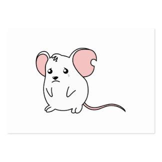 Etiquetas blancas gritadoras tristes del sello de tarjetas de visita grandes