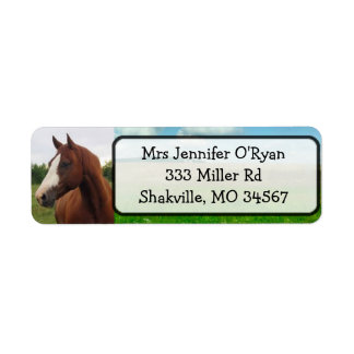 Etiquetas bonitas del remite del caballo